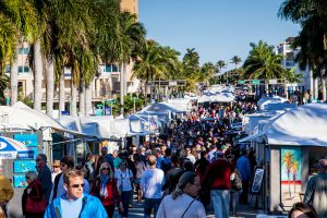 One of the numerous street fairs, art shows and festivals in Delray Beach, FL