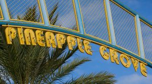 Entrance to the Pineapple Grove Arts District, Delray Beach, FL